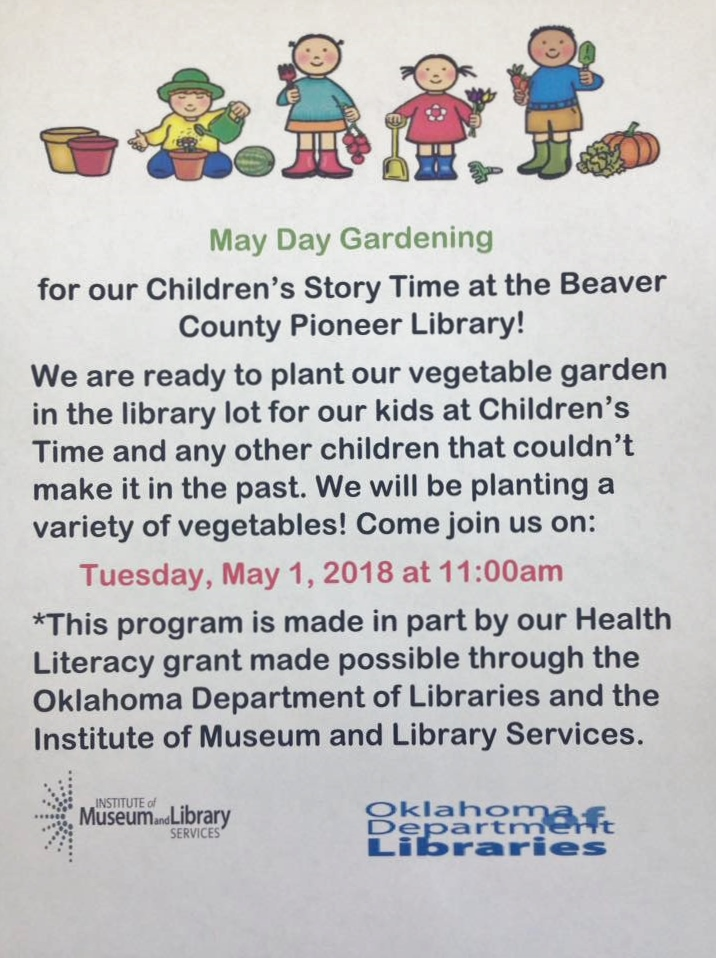 May Day Planting for Children's Story Time