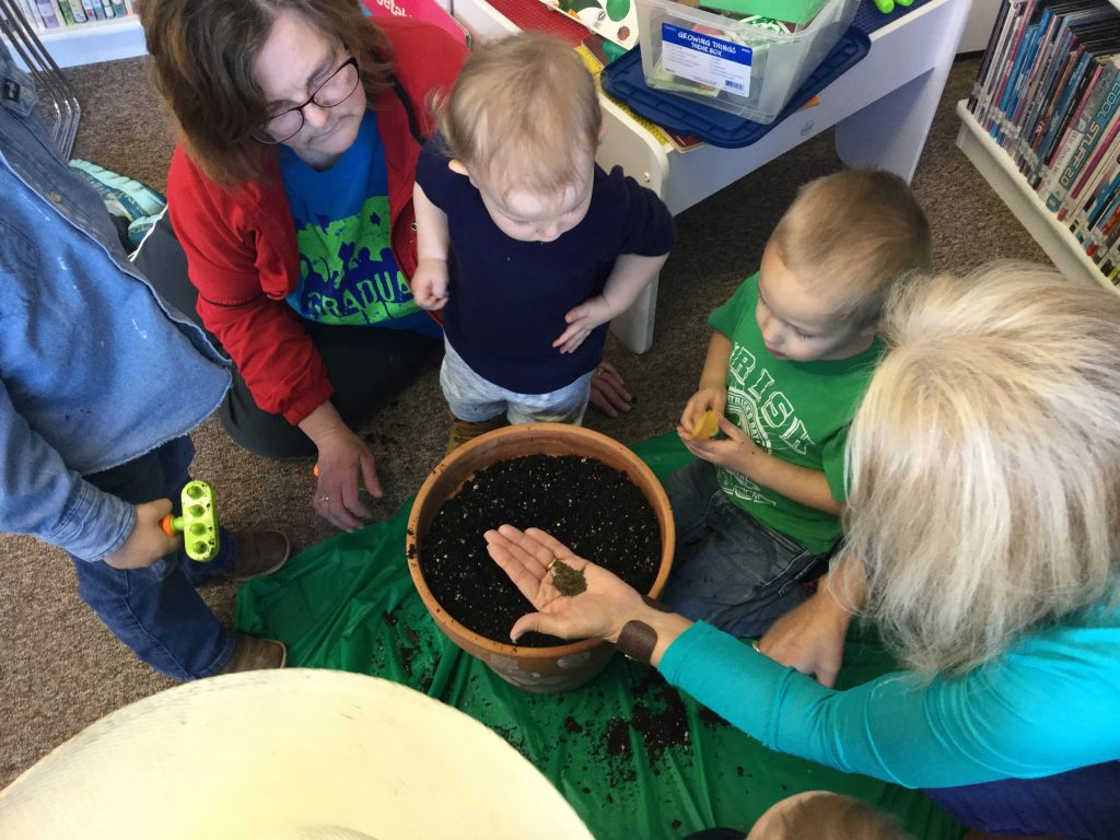 More Planting at Children's Time